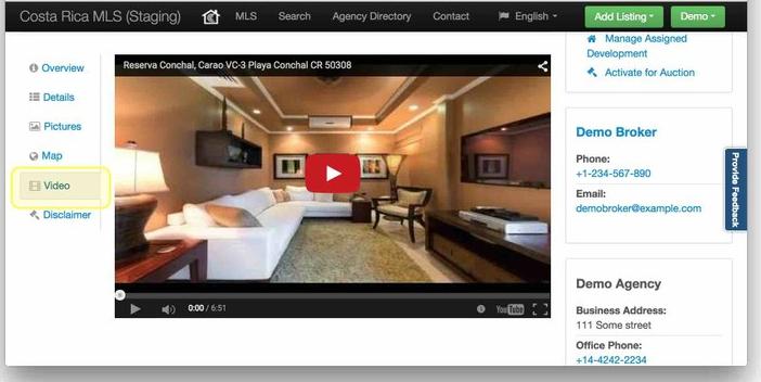 Propertyshelf MLS Video Listing Integration