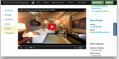 Propertyshelf MLS Video Listing Integration
