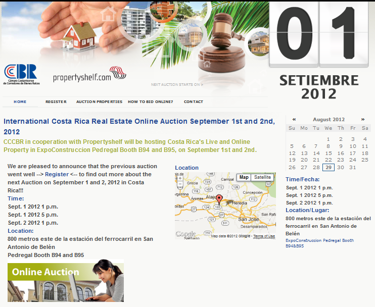 subasta propertyshelf costa rica real estate auction foreclosure properties september 1 2012