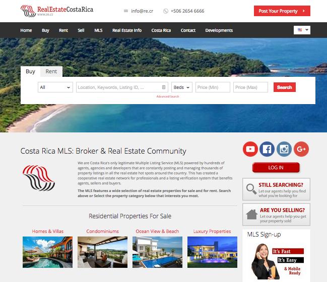 MLS de Costa Rica Casas y Propiedades en Venta