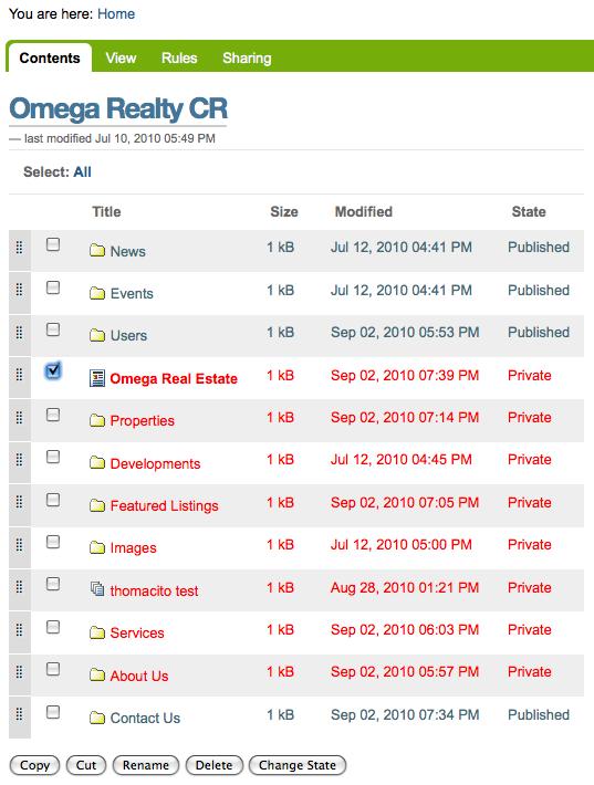 Omega realty cr