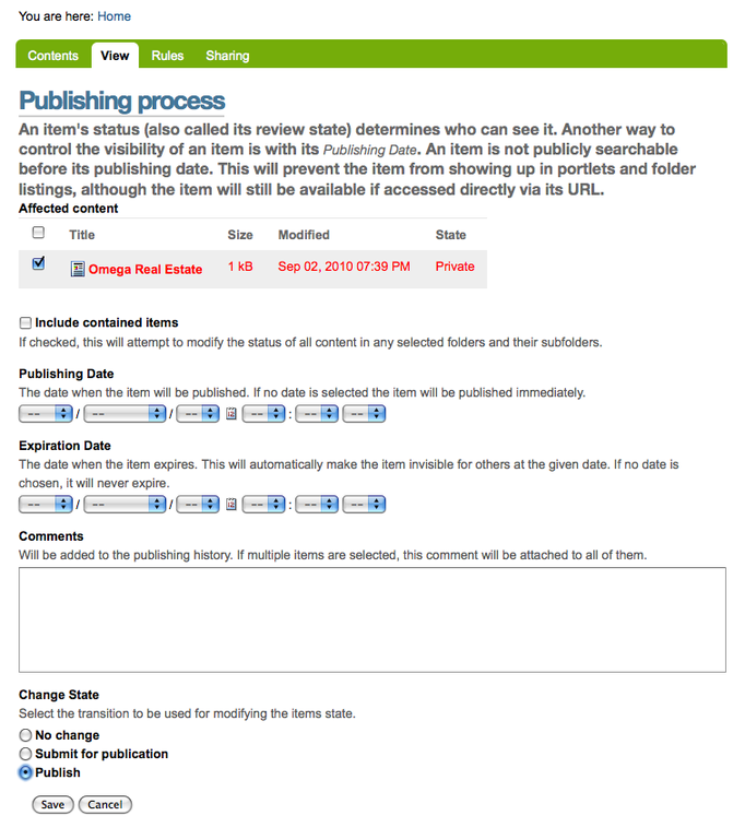 publishing process